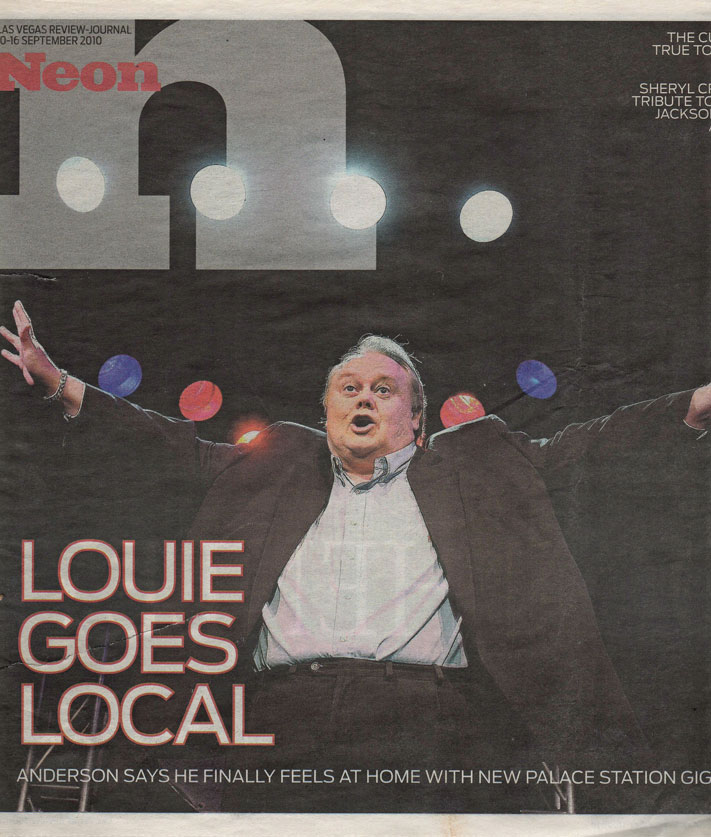 Louie Anderson on the Cover of Neon