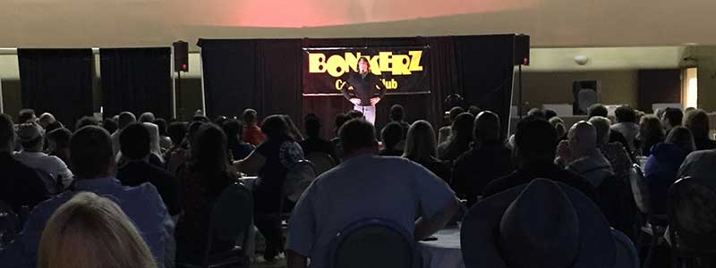 Bonkerz Comedy Club Ocala in the ITW Building at Ocala Breeders Sales and Racebook