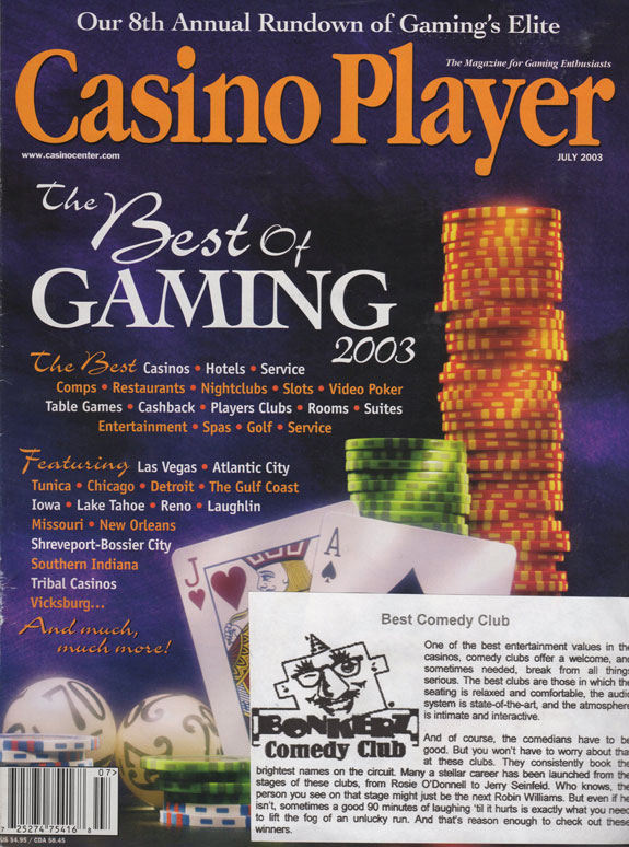 2003 Casino Player - Best Comedy Club