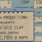 Andrew Dice Clay Ticket Stub
